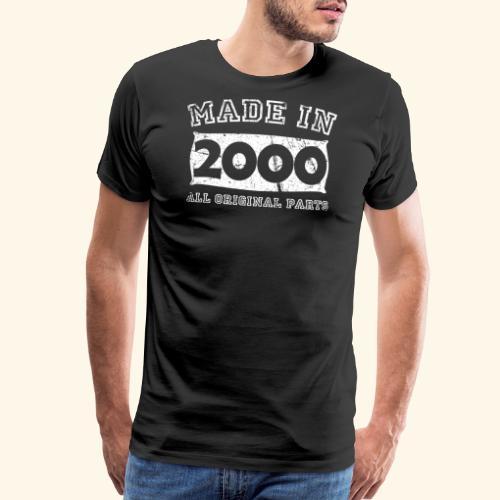 made in 2000 birth day all original parts - Men's Premium T-Shirt