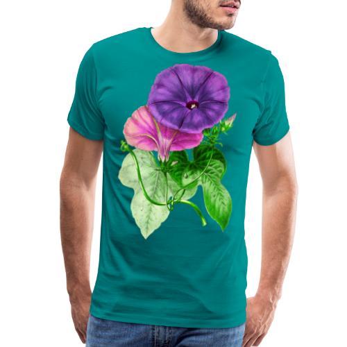 Vintage Mallow flower - Men's Premium T-Shirt