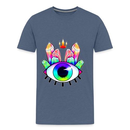 All seeing eye crystal 2 png - Men's Premium T-Shirt