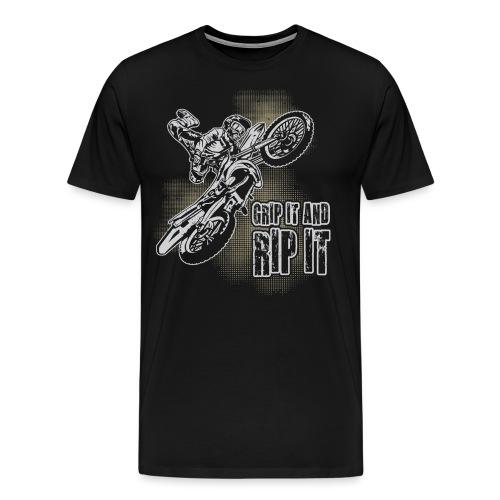 Extreme Motocross Grip It - Men's Premium T-Shirt