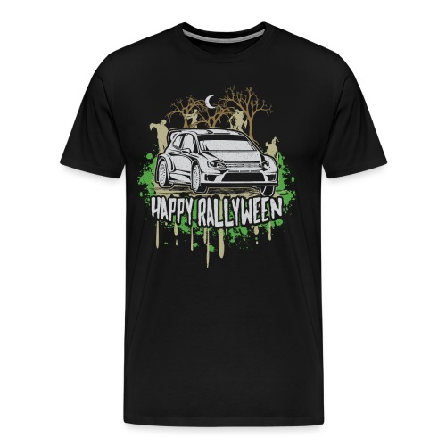 Rally Car Halloween - Men's Premium T-Shirt