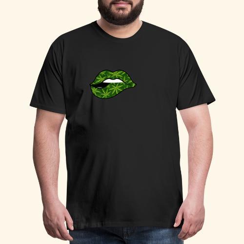 CANNABIS LIPS - WEED LIPS - Men's Premium T-Shirt
