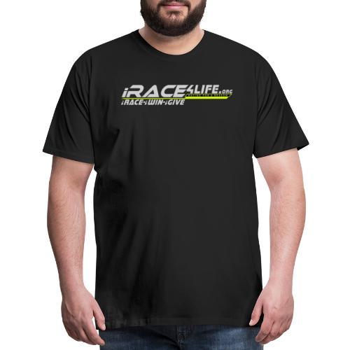 iRace4Life.org Gray Logo w/ iRace-iWin-iGive! - Men's Premium T-Shirt