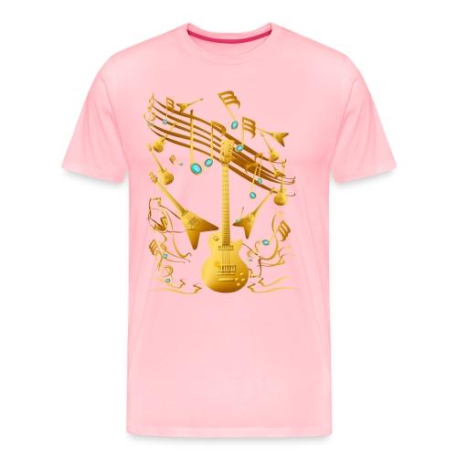 Gold Guitar Party - Men's Premium T-Shirt