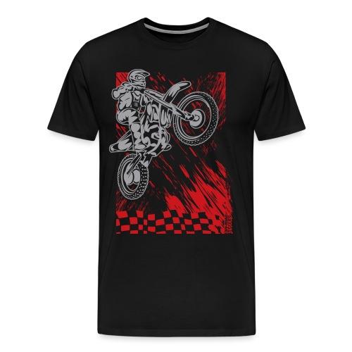 Motorsports Race Flag Deco - Men's Premium T-Shirt