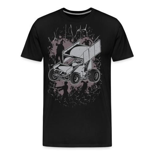 Winged Sprint Car Zombie - Men's Premium T-Shirt