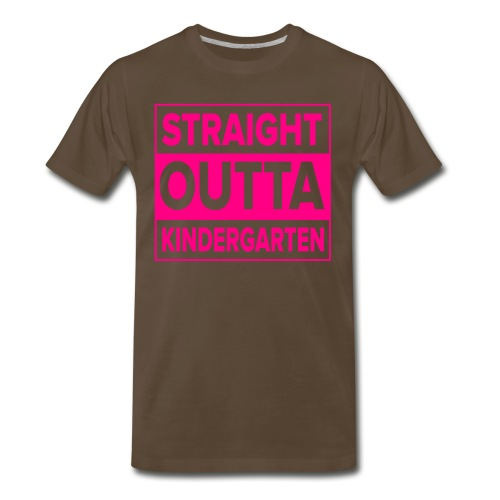 Straight Outta Kindergarten - Men's Premium T-Shirt