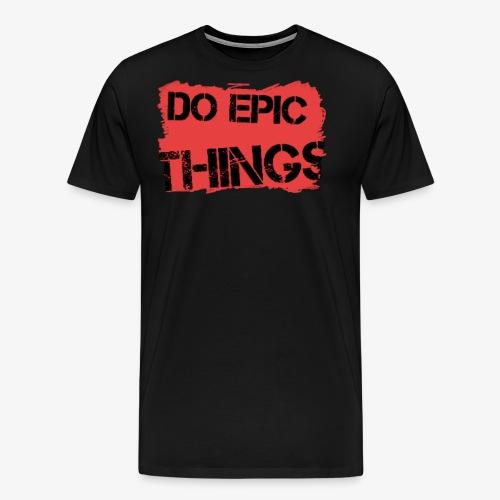 Litty crayola Do Epic Things Youtube Logo - Men's Premium T-Shirt