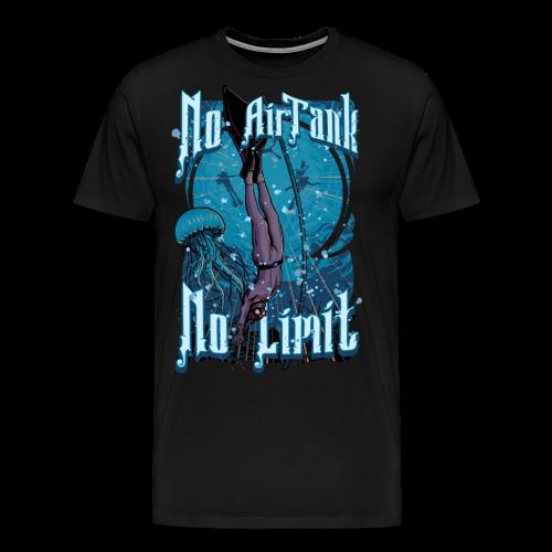 No Air Tank No Limit Freediving merchandise - Men's Premium T-Shirt