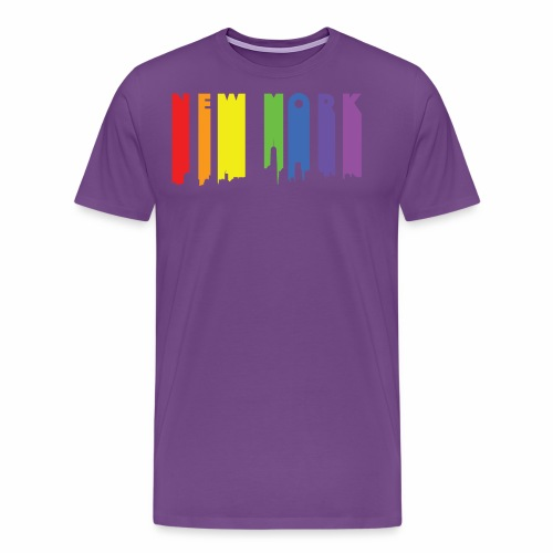 New York design Rainbow - Men's Premium T-Shirt