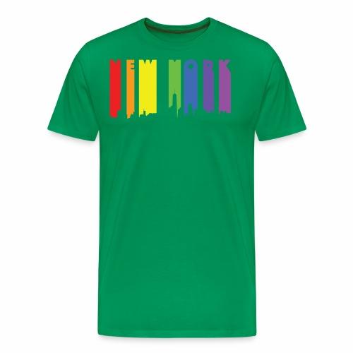 New York design Rainbow - Men's Premium T-Shirt