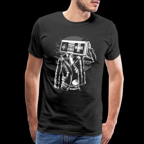 Retro Gamer Head - Men's Premium T-Shirt