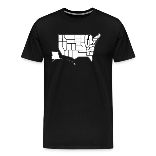 Straight Map - Men's Premium T-Shirt