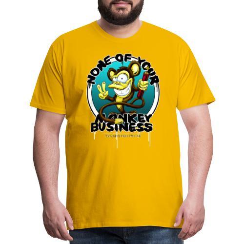 no monkey busin - Men's Premium T-Shirt
