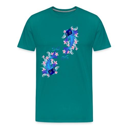 Two Blue Koi - Men's Premium T-Shirt