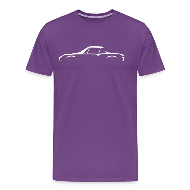 Sportscar Profile for dark colored shirts