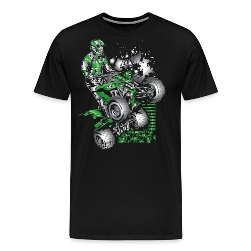 Yamaha ATV Grunge Quad - Men's Premium T-Shirt