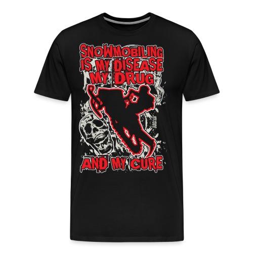 Snowmobile Drug Disease - Men's Premium T-Shirt