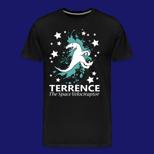Terrence the Space Velociraptor - Men's Premium T-Shirt