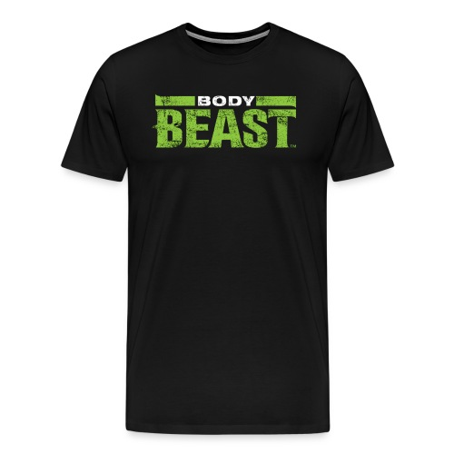 bodybeastblack png - Men's Premium T-Shirt
