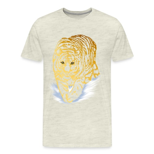 Golden Snow Tiger - Men's Premium T-Shirt