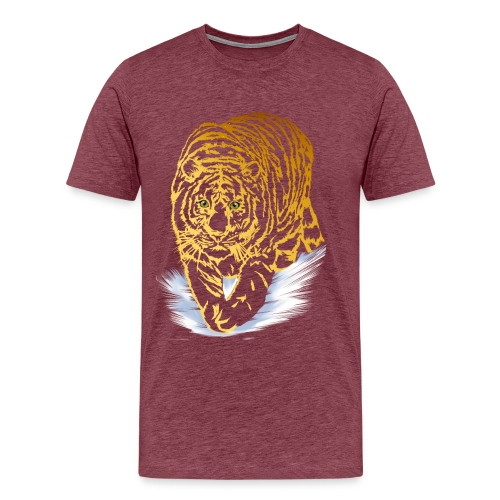 Golden Snow Tiger - Men's Premium T-Shirt