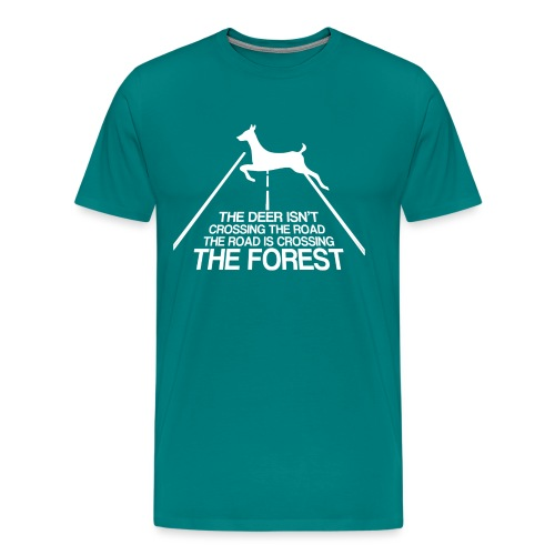 Deer's forest white - Men's Premium T-Shirt
