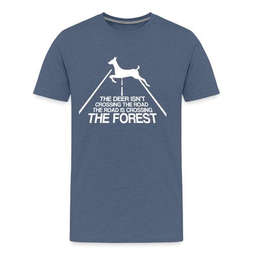Deer's forest white - Men's Premium T-Shirt