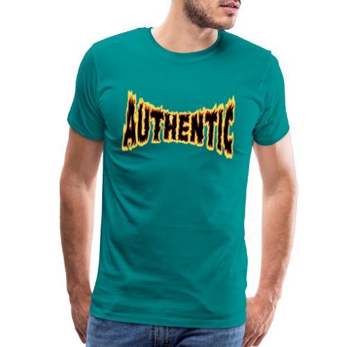 authentic on fire - Men's Premium T-Shirt