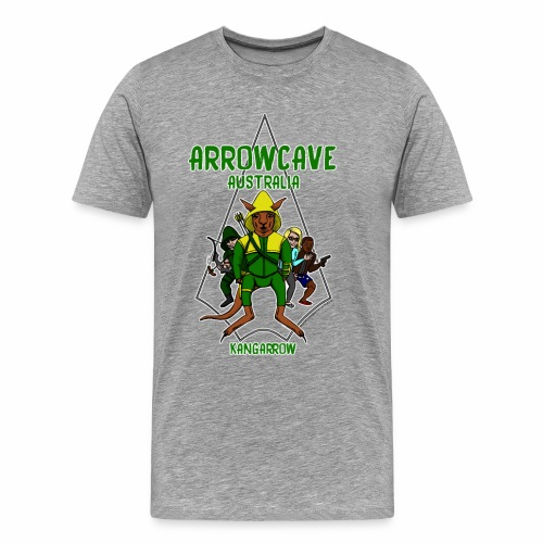 Arrow Cave Logo - Light - Men's Premium T-Shirt