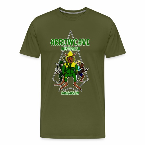 Arrow Cave Logo - Light - Men's Premium T-Shirt