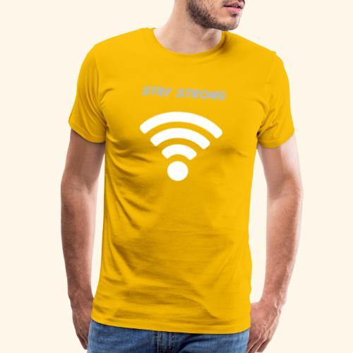 stay strong wifi - Men's Premium T-Shirt