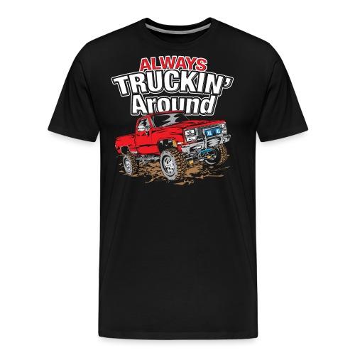 Chevy Truckin Around Red - Men's Premium T-Shirt
