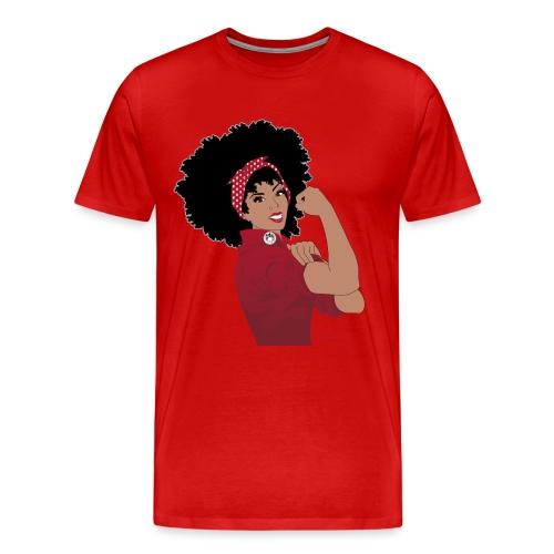 GlobalCouture WeCanDoIt RED Girl RGB png - Men's Premium T-Shirt