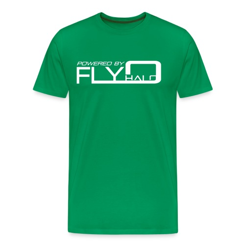 Powered By Fly Halo Blue - Men's Premium T-Shirt
