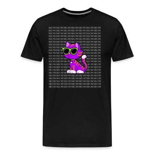 Cool Cat Wearing Sunglasses Funny T-shirt - Men's Premium T-Shirt