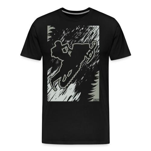 Snowmobiling Forest Run - Men's Premium T-Shirt