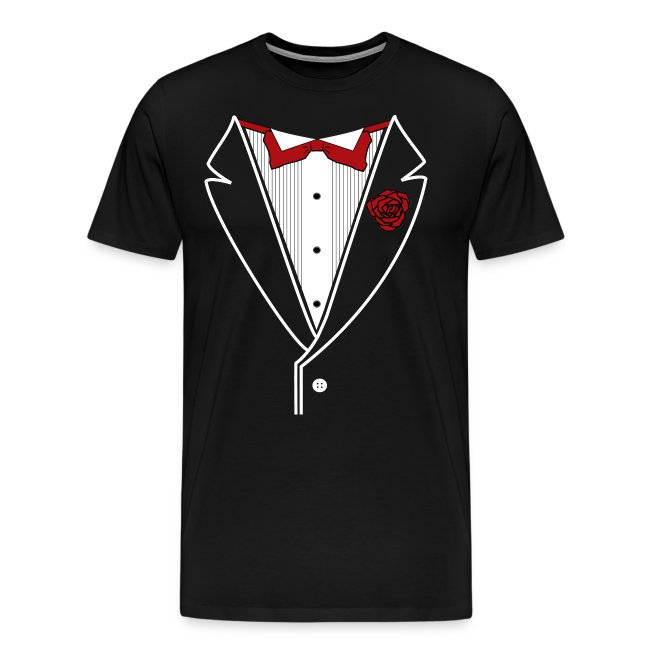 Tuxedo with Red bow tie