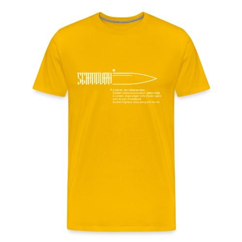 sgiandubh white - Men's Premium T-Shirt