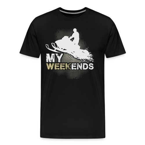 Snowmobile My Weekends - Men's Premium T-Shirt