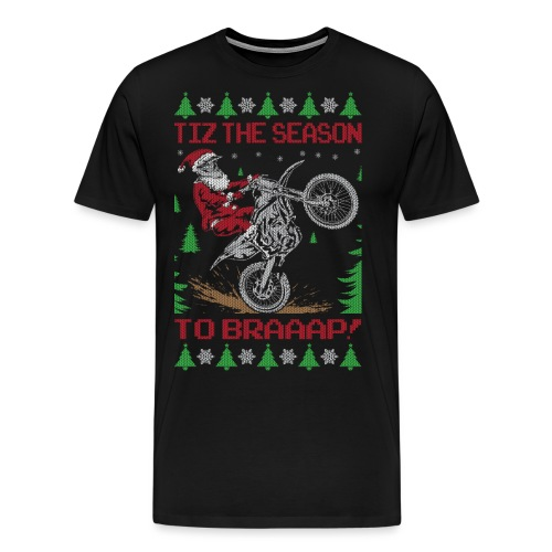 Dirt Bike Ugly Christmas - Men's Premium T-Shirt