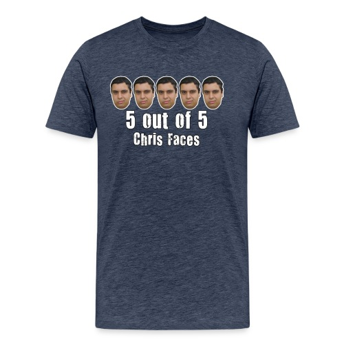 chris faces tshirt full color2 - Men's Premium T-Shirt