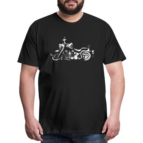 Classic American Motorcycle Abstract - Men's Premium T-Shirt
