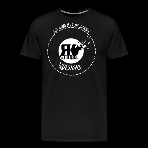 The World is My Garage - Men's Premium T-Shirt
