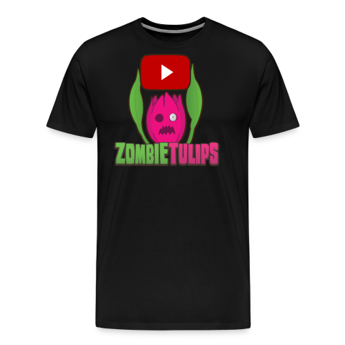 ZombieTulips with play button - Men's Premium T-Shirt