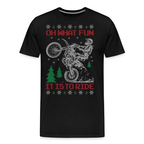 Motocross Ugly Christmas - Men's Premium T-Shirt
