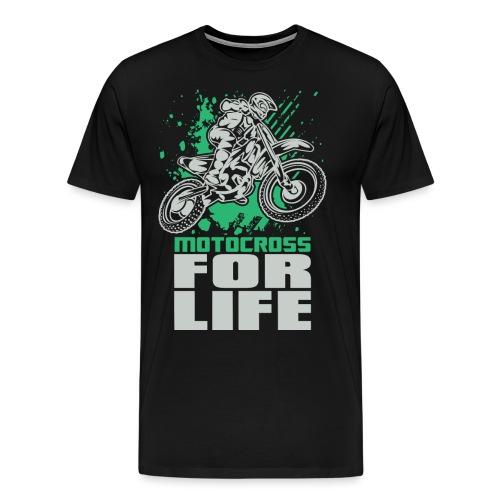 Motocross For Life Stunt - Men's Premium T-Shirt