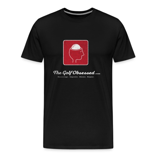 TGO v3 logo red distressed png - Men's Premium T-Shirt