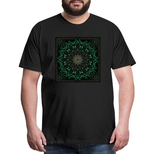 Psychedelic Mandala Geometric Illustration - Men's Premium T-Shirt