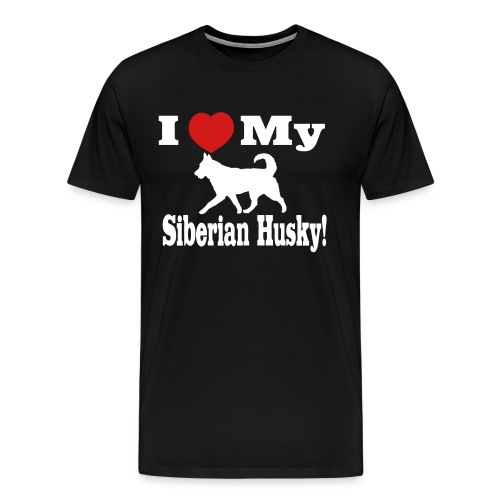 I Love my Siberian Husky - Men's Premium T-Shirt